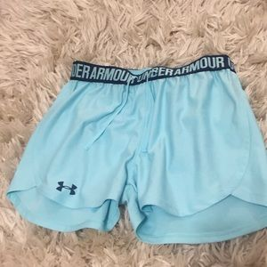 Blue under armour shorts! Size XS